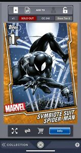 Topps-Marvel-Collect-Orange-Symbiote-Suit-Spider-man-Week-1-Award-248cc