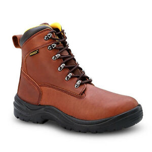 "D, M Mens Black 6/"" Pull-On Leather Waterproof Work Boots BONANZA 101 Size 5-13"