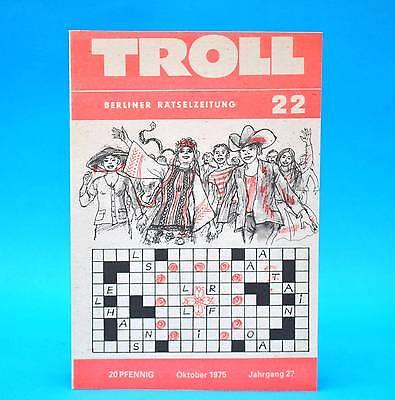 Billiger Preis Troll 22 Oktober 1975 | Ddr Rätsel | Kreuzgitter Schachecke | Geburtstag X Gut FüR Antipyretika Und Hals-Schnuller