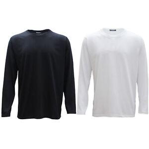 New-Adults-Men-039-s-Cotton-Long-Sleeve-Plain-Crew-Neck-T-Shirt-Basic-Tee-Top-Jumper