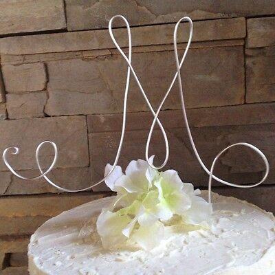 personalized cake topper letter M monogram Cake topper birthday cake topper