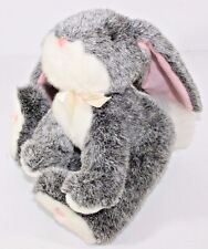 Bunny Rabbit Plush Russ Berrie  Lop Ear Grey Pink Lovey Soft Cuddle Toy BOUNCY