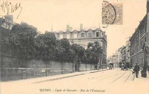 CPA-51-REIMS-LYCEE-DE-GARCONS-RUE-UNIVERSITE-dos-non-divise