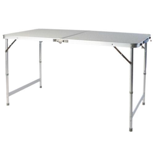 Klapptisch Campingtisch 120x60x70cm grau Aluminium Griff Falttisch Picknicktisch