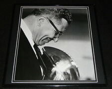 Vince Lombardi Framed 12x12 Poster Photo w/ Trophy Packers
