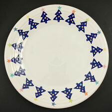 Fiesta Ware Blue Tree Cobalt Christmas Dinner Plate Stars Vintage 1998 May Co
