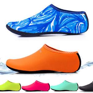 Men-Women-Aqua-Skin-Shoes-Beach-Water-Socks-Yoga-Exercise-Pool-Swim-Slip-On-Surf