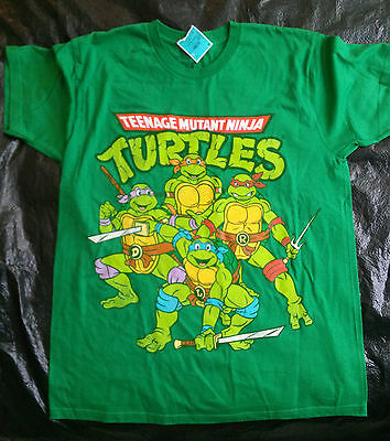 Teenage Mutant Ninja Turtles Cotton Tee Shirt - L - Green - FREE S&H - NEW-Youth