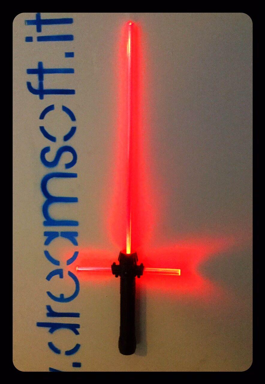Es laser - star wars kylo ren lichtschwert luci rot e a l 69cm x h24cm