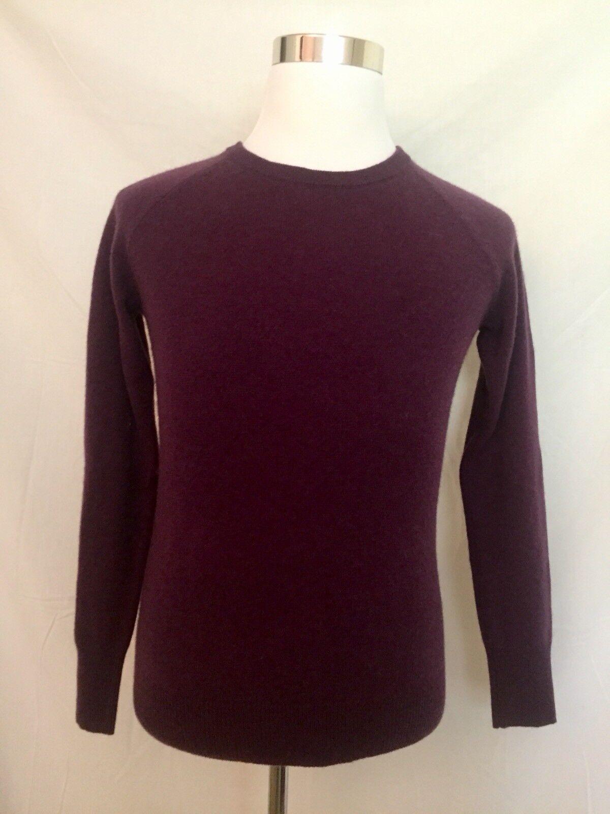Halogen Cashmere lila Bramble Sweater daMänner's Medium (NWT)