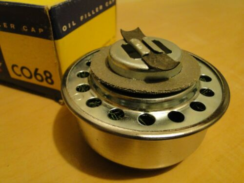 1952-59-60-61-62-63-1964 Ford Edsel Truck Chrome Oil Breather Cap NOS Stant CO68