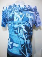 Us Air Force Photo T-shirt Mens Large Military Blue