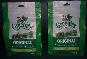 GREENIES Original TEENIE Natural Dental Dog Treats, 65 Treats X 2 (130 Treats)