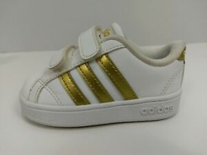 91e631d5b5a7 Image is loading Adidas-Neo-Baseline-CMF-AC7438-White-Gold-Sneaker-