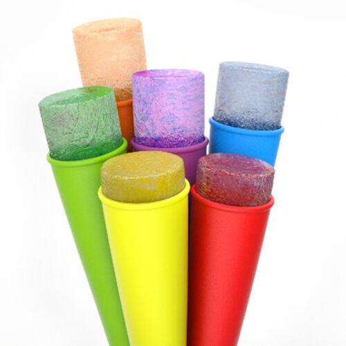 Frische Silikonform drücken Eis Jelly Lolly Fad Maker Eis am Stiel Schimmel HMYY