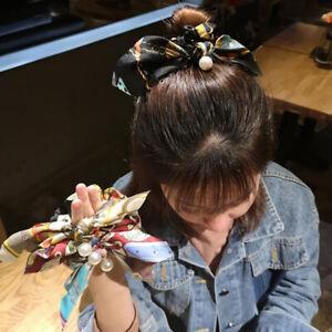Ribbon-Rope-Cute-Hair-Ties-Bow-Elastic-Hair-Band-Girl-Hair-Accessories-Scrunchie