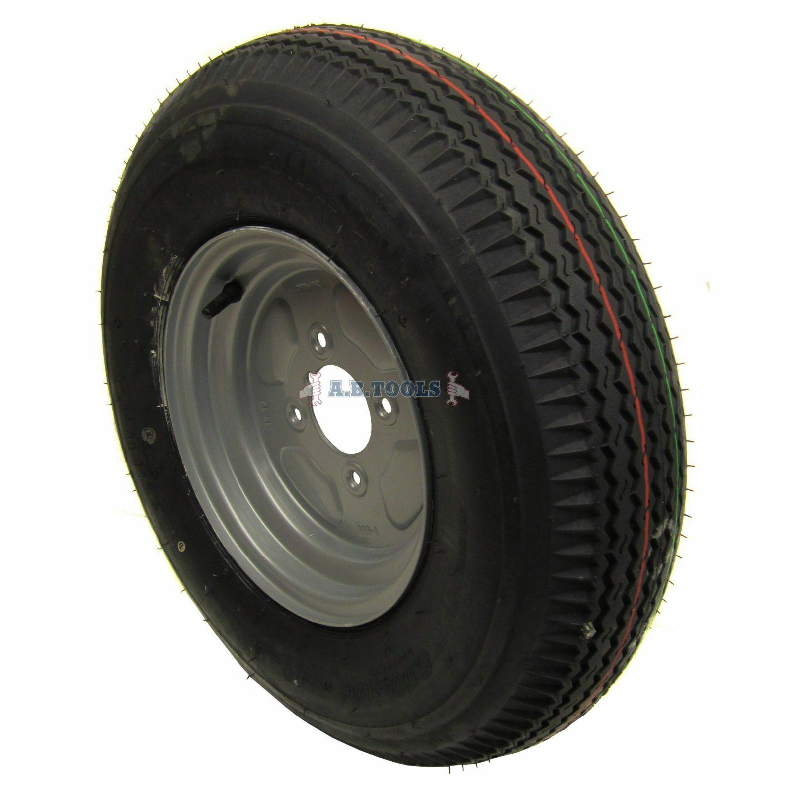 Trailer Wheel and Tyre 5.00 x 10  4ply 4 pcd TRSP11