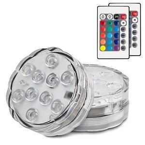 Submersible Led Lights Remote Control Battery Operated Wireless