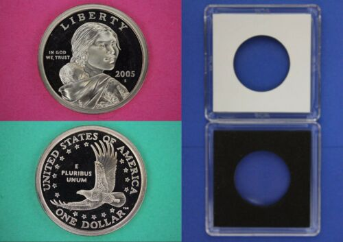 2005 S Proof Sacagawea Native American Dollar With 2x2 Case Flat Rate Shipping