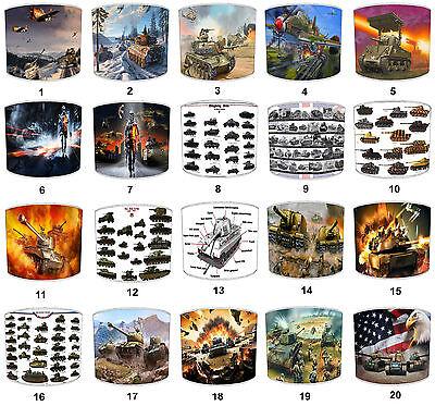 Nuttig Military Lampshades Ideal To Match Tanks Wall Decals & Stickers & Tanks Duvets. Het Hele Systeem Versterken En Versterken