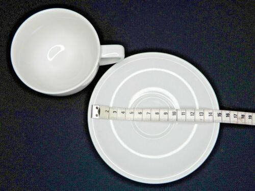 K109#653 Thomas Sunny Day 10850 Weiß Cappuccino Tasse /& Unterasse