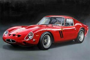 Ferrari-250-GTO-1962-Hand-Painted-Oil-Painting-on-Canvas-Car-Artwork-Realism