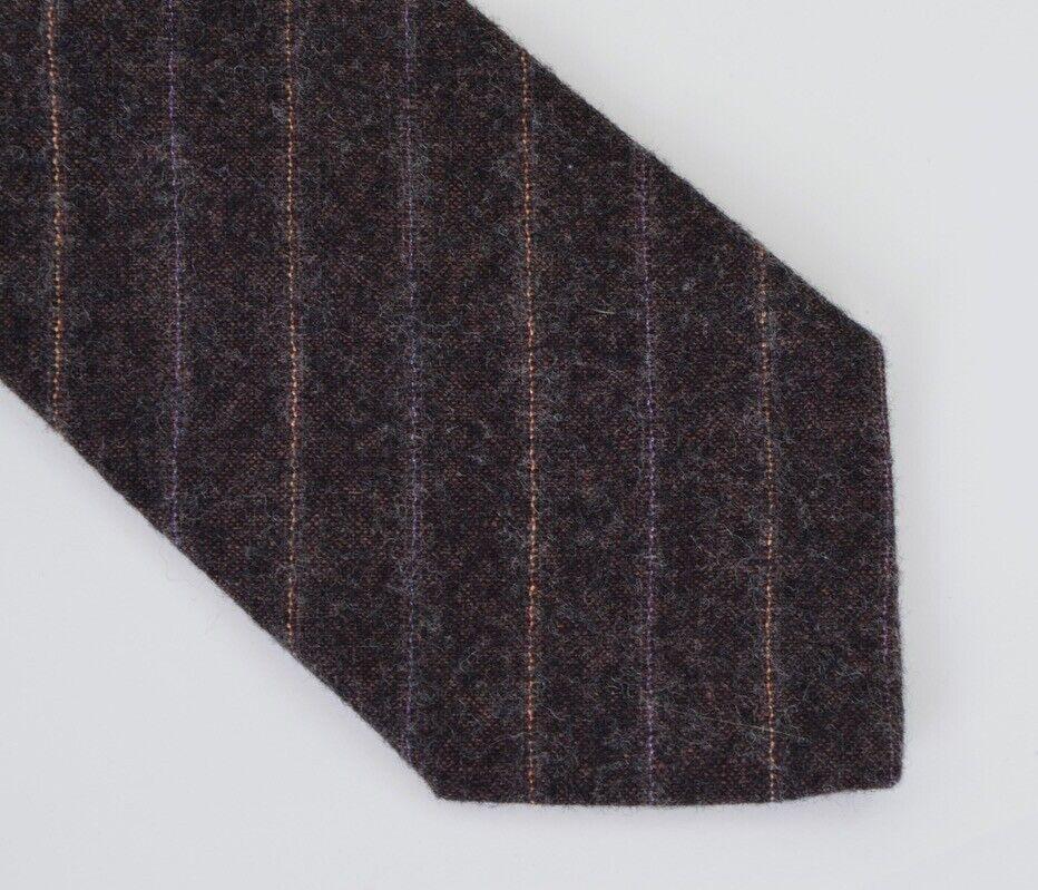 Strellson 100% Wolle Wool Krawatte Tie HERBST Grau Grey Made in Italy Streifen
