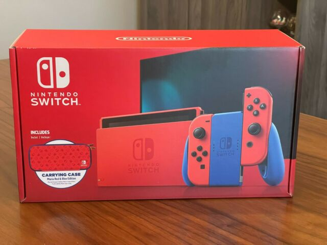 Brand New Nintendo Switch Console - Mario Red & Blue Limited Edition (HADSRAAAF)