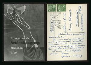 cartolina-postcard-postkarte-carte-postale-MUNCHEN-internationaler-seidenkongres