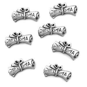 scroll diploma floating charm for living memory locket necklaces  image is loading scroll diploma floating charm for living memory locket
