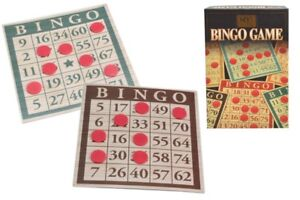 M Y Traditional Bingo Game Set Retro Family Board Game Kids Gift New