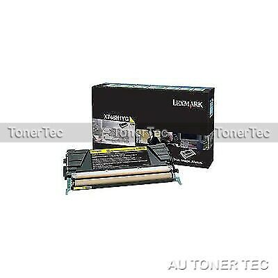 Lexmark Genuine X748H1YG YELLOW HY Return Program Toner Cartridge X748