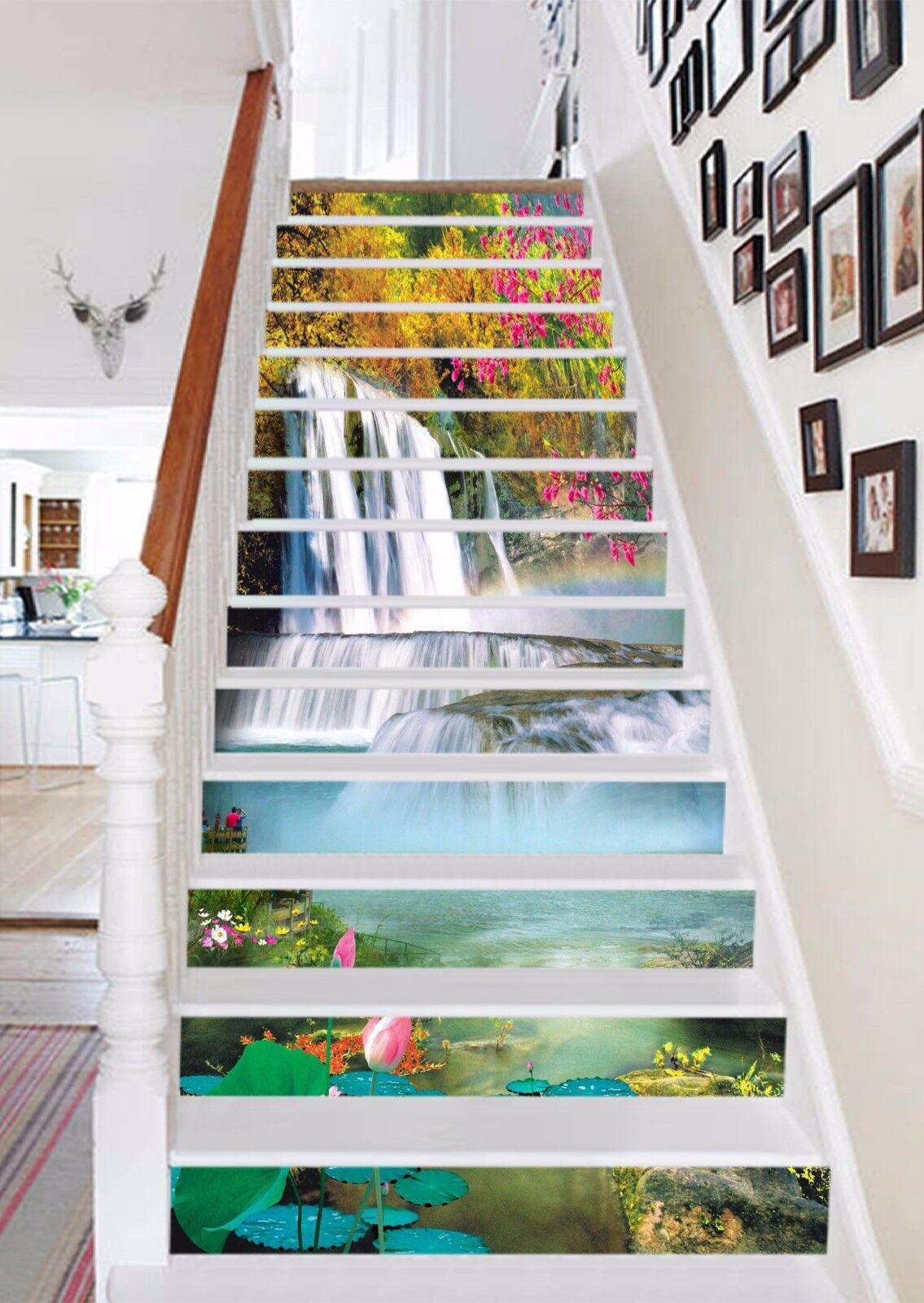 3D Falls View 153 Stair Risers Decoration Photo Mural Vinyl Decal Wallpaper AU