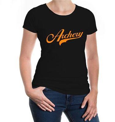 Razionale Da Donna A Maniche Corte Malvagia T-shirt Archery Logo Arco Sparare Schießsport Sagittario- Tecnologie Sofisticate