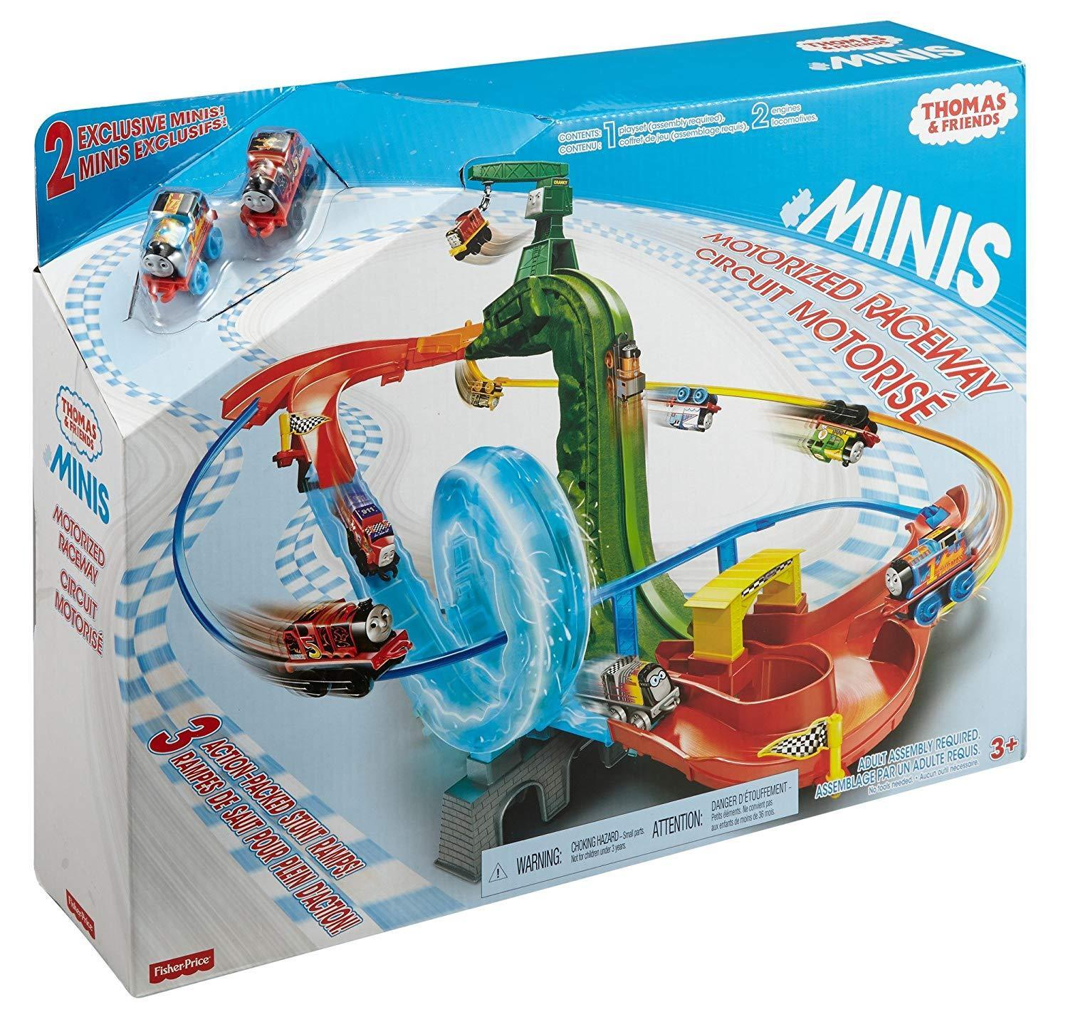 Thomas & Friends MINIS Motorised Stunt Raceway Set Inc James & Thomas Minis