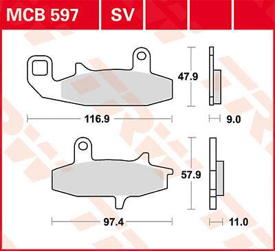 RU 92-94 Plaquettes de frein Avant TRW Lucas MCB 597 pour Suzuki DR 650 R