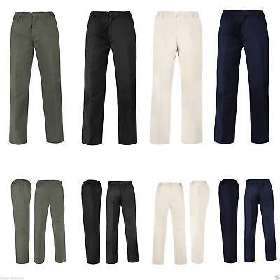 Willensstark Mens Rugby Trousers Full Elasticated Waist Casual Smart Pocket Pants Big Plus Heller Glanz