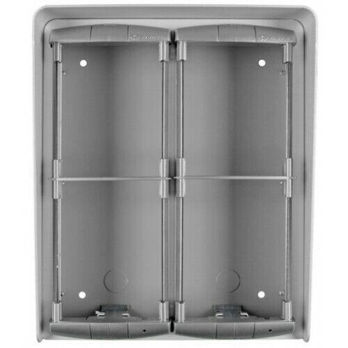 ACI Farfisa PL94 Surface mounting box for 4 modules on 2 Grünical rows Intercom