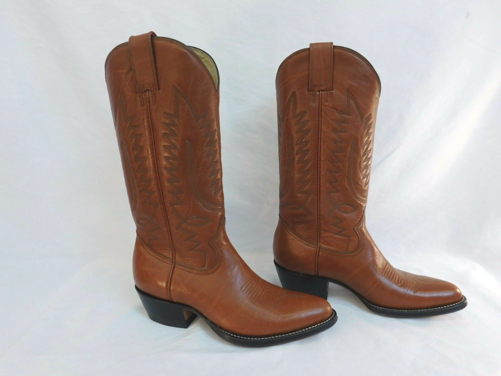 MONTANA BROWN COWBOY BOOTS LEATHER SIZE 7-1 2 NEW IN BOX M207 CLASSIC