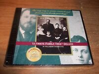 Ultimate Family Tree Deluxe Aol's Special Edition Cd Rom Vintage Software