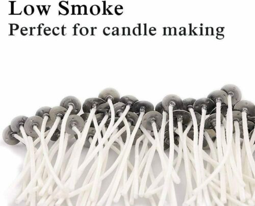 50 Pre Tabbed Candle Wick 6 Inch Cotton Core MADE IN USA Candle Making Supplies
