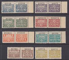 Argentina, Santa Fé mint 1915 2 part Comision de Fomento Revenues, 8 diff, VF