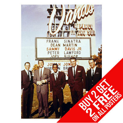 BUY 2 GET ANY 2 FREE THE RAT PACK LAS VEGAS SINATRA POSTER ART PRINT A4 A3
