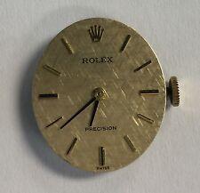 Rolex 17 jewel Precision Montres 1400 Calibre Movement, Dial & 18K Gold Crown