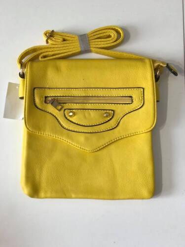 New Ladies Messenger /& Cross Body Bag 2 ZIP PU Faux Leather Shoulder Bag
