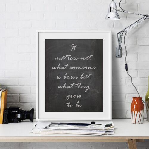 Albus Dumbledore Inspirational Wall Art Print Motivational Quote Poster Decor