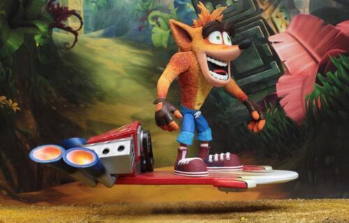 Crash BANDICOOT Action Personaggio Ultimate hoverboard Crash-Premium personaggio 18 cm OVP