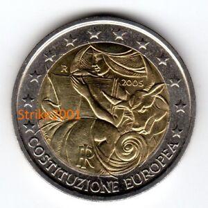 5c5fce734b Caricamento dell'immagine in corso 2-EURO-COMMEMORATIVO-ITALIA-2005- Costituzione-Europea