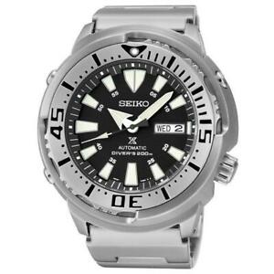 Seiko-Black-Monster-Baby-Tuna-Prospex-Men-039-s-Stainless-Steel-Watch-SRP637K1