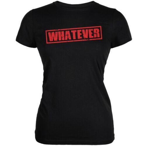 Whatever Black Juniors Soft T-Shirt